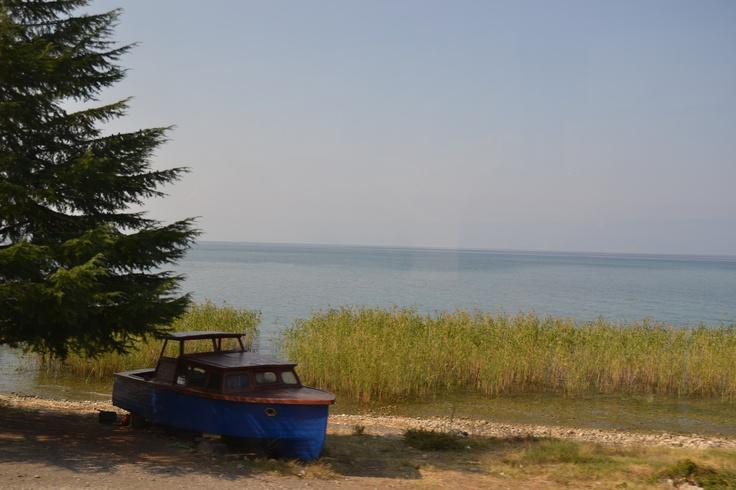 scene of ohrid lake