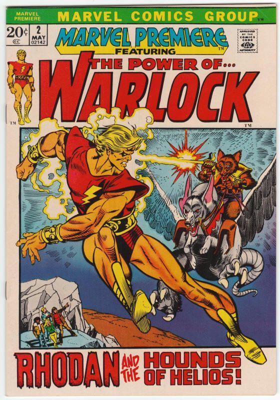 "Marvel Premiere #2 NM, Last Warlock; Jack Kirby art reprint on ""Yellow Claw""…"