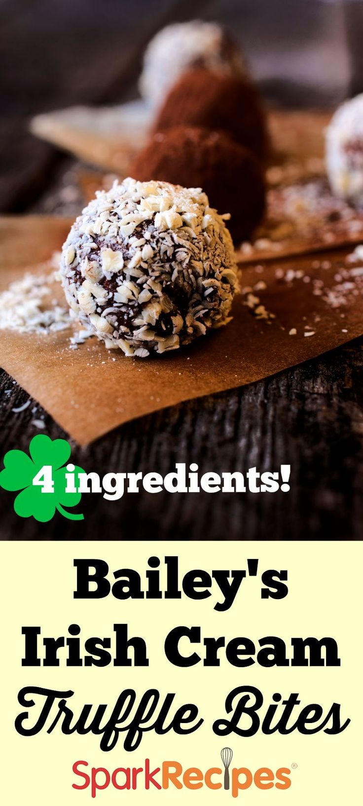 Try these Bailey's Irish Cream truffle bites for St. Patrick's Day when you want a little sweet treat for dessert.