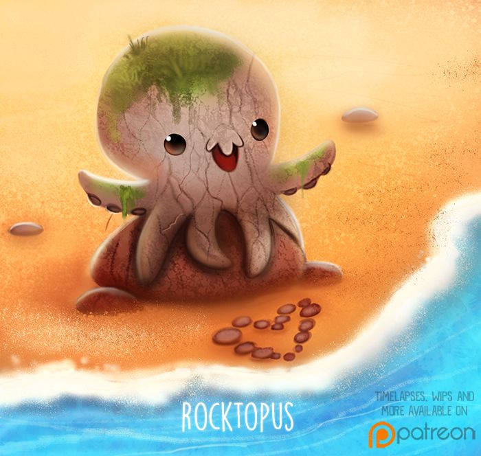 Daily+Paint+1503.+Rocktopus+by+Cryptid-Creations.deviantart.com+on+@DeviantArt