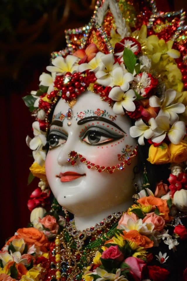 Sri Radhastami Morning Program and Abhishekam in Mayapur (75 photos)