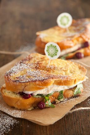 Turkey Cranberry Monte Cristo.-post thanksgiving meal (: