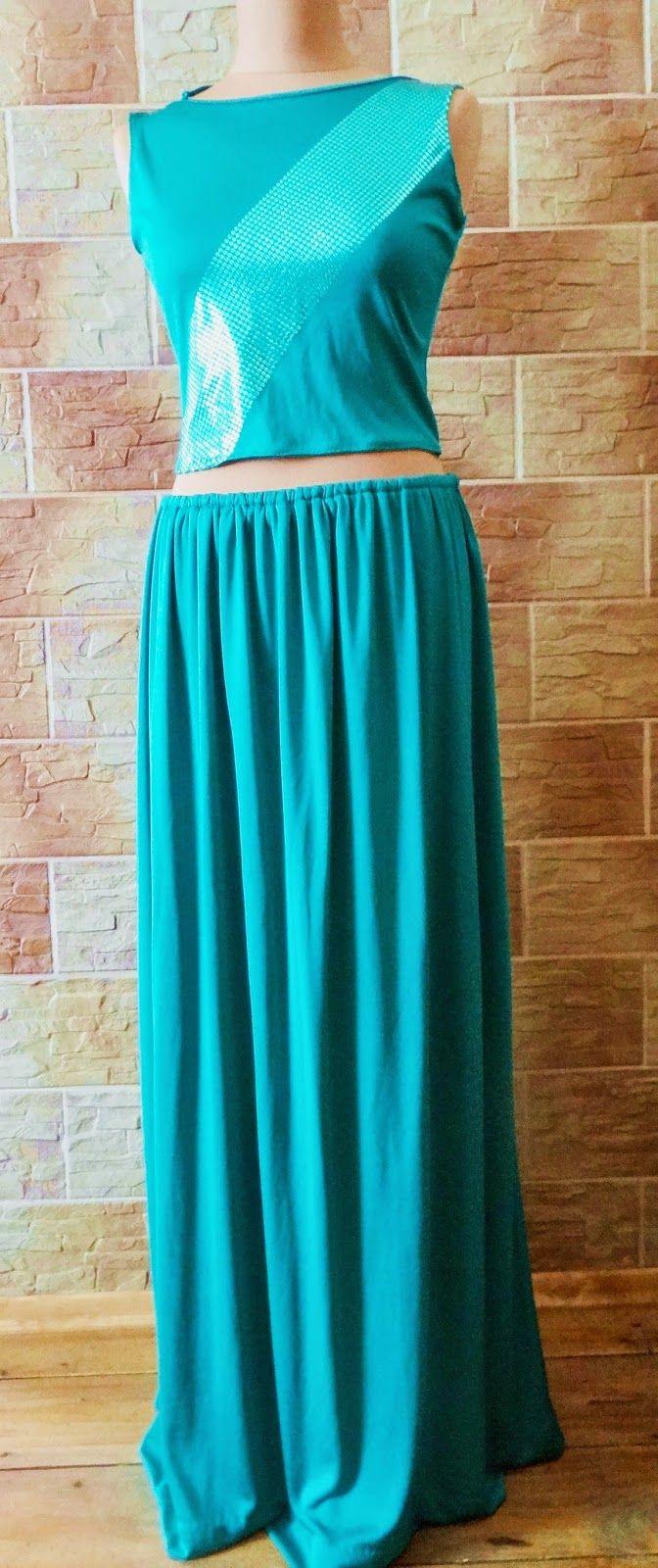 Lady at home DIY Blog: DIY spódnica maxi i krótki top z sukienki DIY Maxi skirt + crop top
