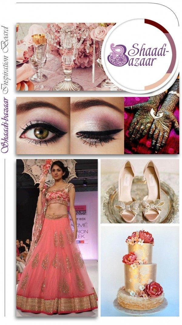 Wedding Inspiration board for the latest in wedding trends, this rose, gold & white wedding inspiration board.  Indian wedding inspiration, indian wedding clothes