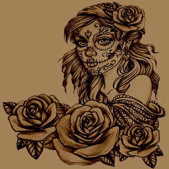 flower and suagr skull tattoo | How To Create Your Own Sugar Skull Tattoo | Full Tattoo