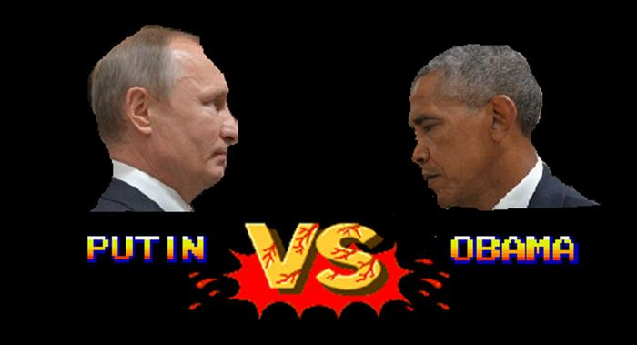 Une Photo De Obama Et Poutine Déclenche Une Photoshop Battle - Photo of obama and putin death stare sparks hilarious photoshop responses