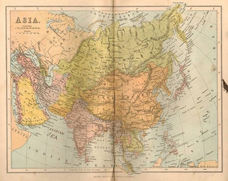 11 best antique maps images on pinterest antique maps old maps asia china russia arabia 1869 original antique map publicscrutiny Image collections