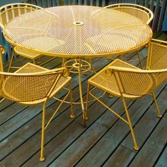 Wrought Iron antique lawn furniture -