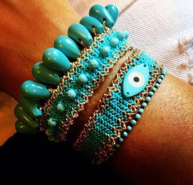 Turquoise | accessories, handmade bracelets | by  Antonia Karra
