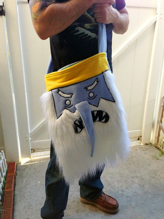 Ice King Adventure time over the Shoulder bag by sappymoosetree, $55.00