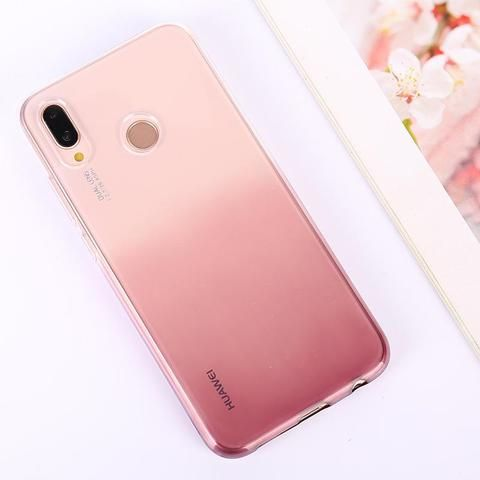 Gradient Clear Phone Case For Huawei Honor 7C 7A Pro Case