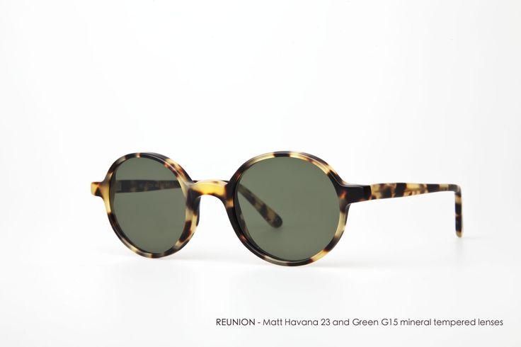 REUNION in Matt Havana 23 with Green G15 mineral tempered lenses