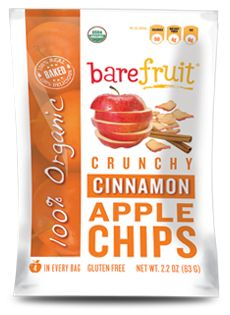 Bare Fruit Snacks - Organic Cinnamon Apple Chips - (Just apples and cinnamon - nothing else!)