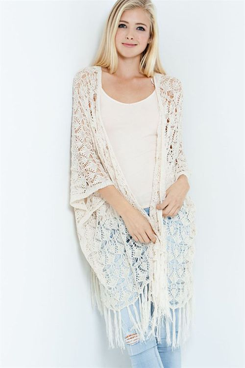 Crochet Sienna Cardigan | Women's Clothes, Casual Dresses, Fashion Earrings & Accessories | Emma Stine Limited