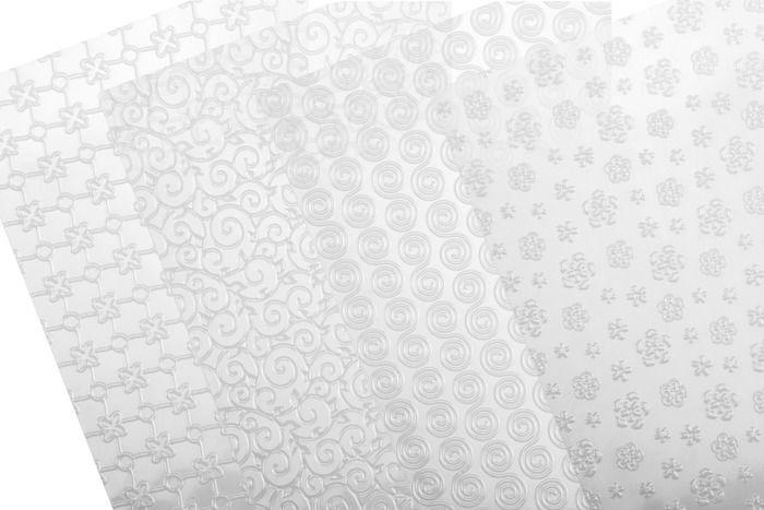 Plantillas para decorar tartas | http://www.tescomaonline.es/hornear-69076/cortapastas-moldes-85076/delicia-deco-87076/delicia-deco-juego-4-plantillas-texturas-florales-delicia-deco-1090071/