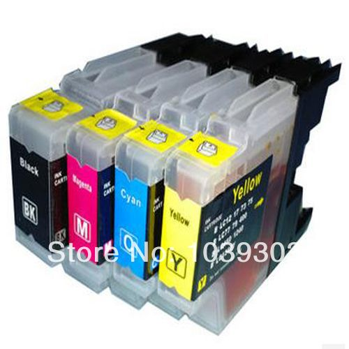 8 PCS LC1240 LC1280 LC75 LC73 LC77 LC79 LC12 LC17 LC450 LC400 compatible inkjet ink cartridge for brother MFC-J430W printer inks #Affiliate