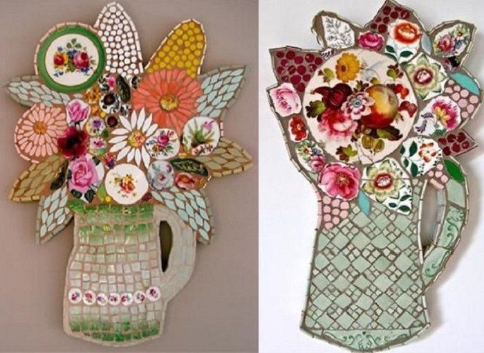 Recycling old plates into new art