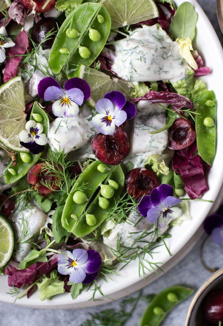 recept sommarsallad fisk sill tillbehor buffe lime dill