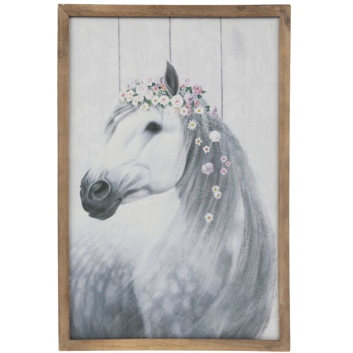 White Horse With Flowers Wood Wall Decor Hobby Lobby 1786912 Horse Room Decor Horse Decor Horse Decor Bedroom