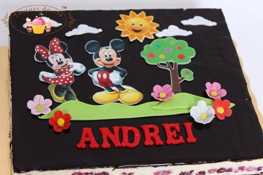 Tort aniversar cu Mickey pentru Andrei