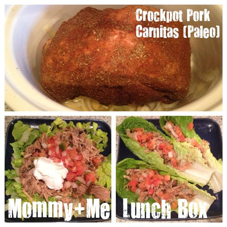 mommy + me lunch box: Paleo Crockpot Pork Carnitas Salad
