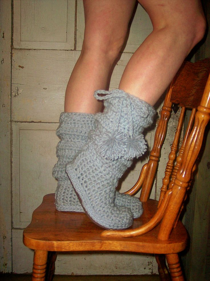 Crochet Boots Pattern---- Slouch Boots----------- style number 2----------for indoor and outdoor wear. $5.00, via Etsy.