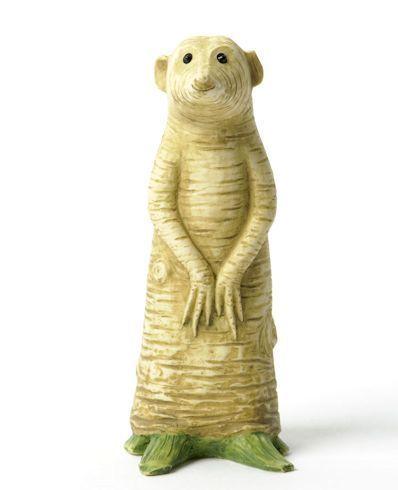 Enesco+Vegetable+Animals   Home Grown Veggie Animal Figurine - Horseradish Meercat