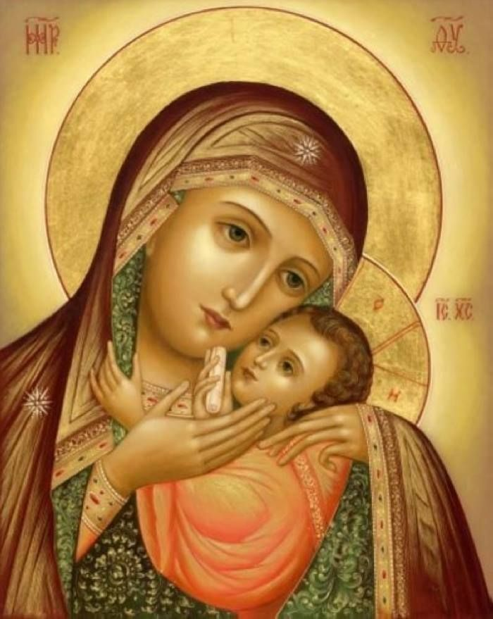 Kasperov Icon of the Mother of God. What a tender image.