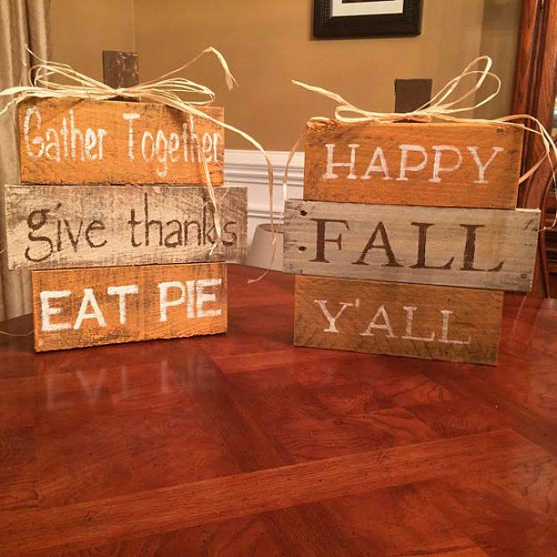 Pallet Pumpkin Signs | Pallet Project Ideas | Nifty Fall Decor From Pallets For Your Homestead