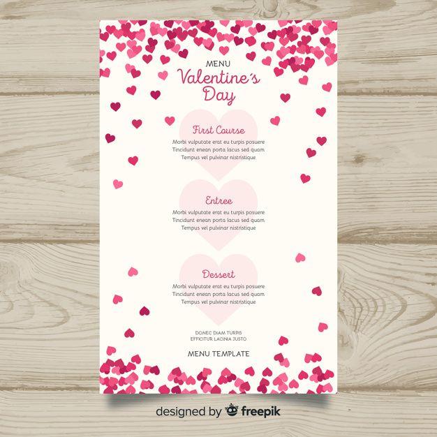 Download Tiny Hearts Valentine S Day Menu Template For Free Menu Template Valentines Printables Free Valentines