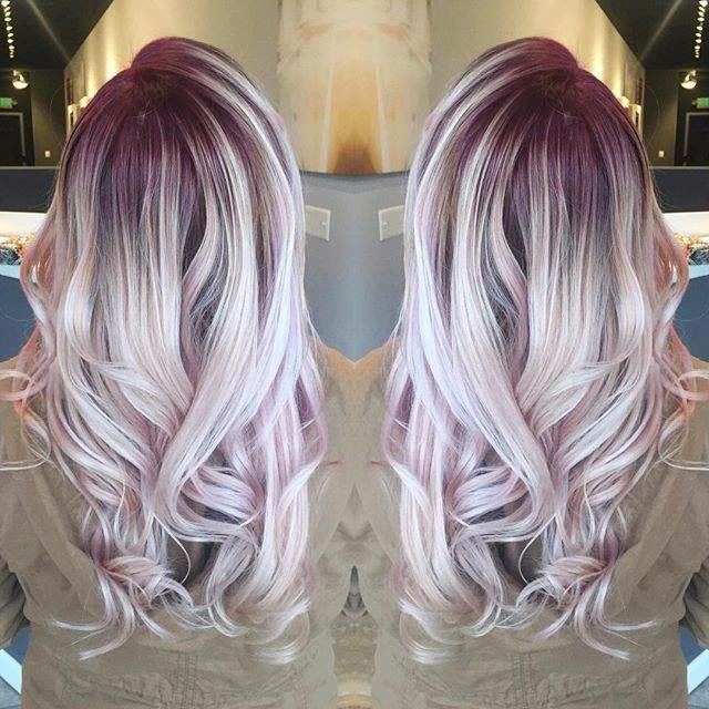 White blond with purple