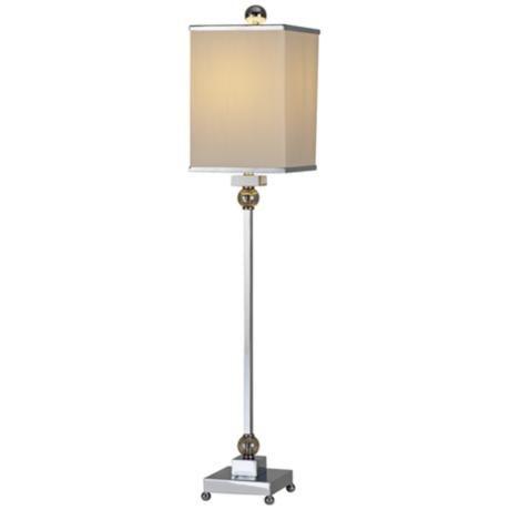 Raschella Chrome Crystal Buffet Table Lamp