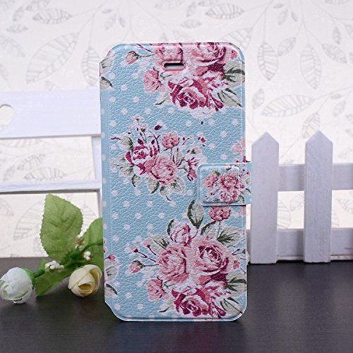 Designer Style iPhone 5/5s/ 6 Floral Rose Blossom Tropical Vintage Flower Pink/Black/Blue Pastel Pink wallet Clutch Case/Cover by iM (iphone5/5s, aqua polka rose) MiMi http://www.amazon.co.uk/dp/B00VAKDVUK/ref=cm_sw_r_pi_dp_cGSNvb13W654B