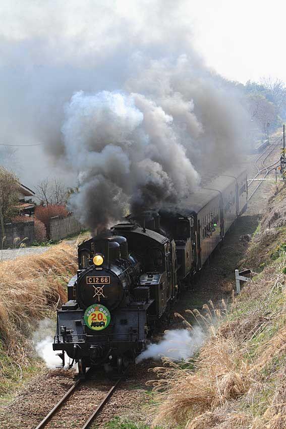 栃木県の下館駅を起点として茂木駅まで41.9kmを走る第三セクター路線です。蒸気機関車C12_66