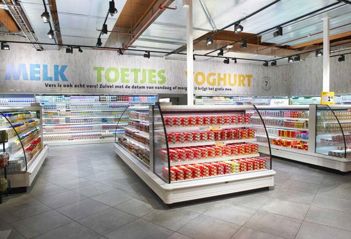 Новый корпоративный дизайн супермаркетов Jumbo в стиле лофт