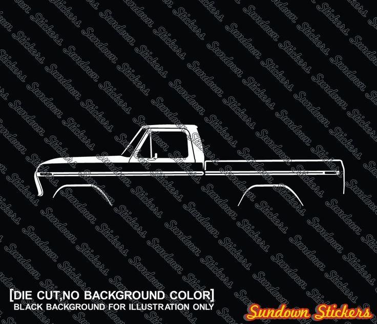 2X Car silhouette stickers -for Ford F100 /F150 (1973-1979) classic pickup truck   eBay Motors, Repuestos y accesorios, Repuestos para autos y camiones   eBay!