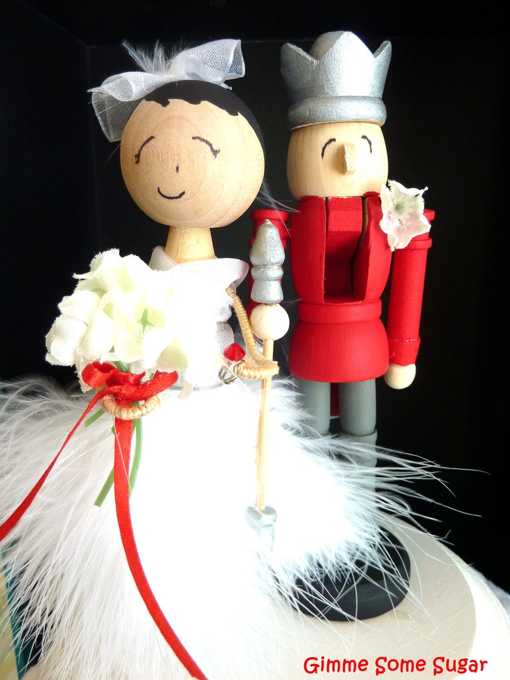Cake Toppers For Christmas : Holiday Wedding Cake Topper Christmas wedding ...