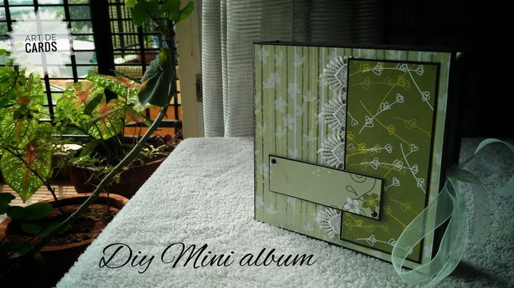 Interactive photo album-Mini album with stacked deck model(green theme from papermania) #albums #albumcover #albumdesign #minialbums #minialbumscrapbooking #diy #handmade #handcrafted