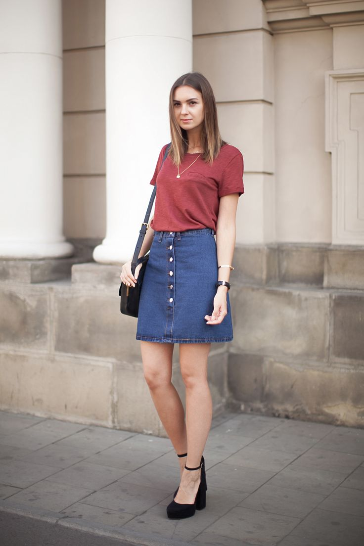 Superb Denim Skirt For Everyone  Denim Skirt Outfits Ideas | Superb Denim Skirt For Everyone ...