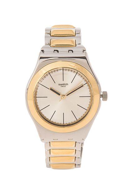 Me encanta! Miralo! Reloj Bicartridge Plateado/Dorado Swatch  de Swatch en Dafiti
