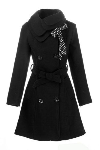 LANHUACAO Women Wool Blends Coat Slim Trench Winter Coat Long Jacket Outwear for only $69.99 You save: $10.00 (13%)