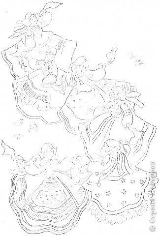 Картина панно рисунок Вырезание Хоровод Бумага фото 12
