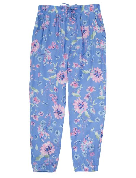 These floral printed harem pants are a cute addition to her wardrobe. They have a comfy elasticated waistband with faux drawcord.