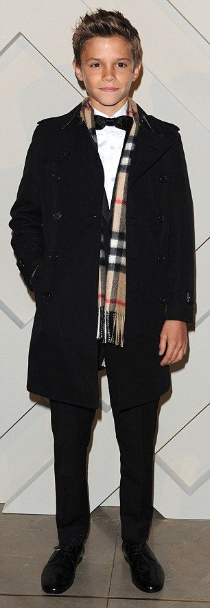 Romeo Beckham unveiled as the star of Burberry's Christmas campaign | Daily Mail Online