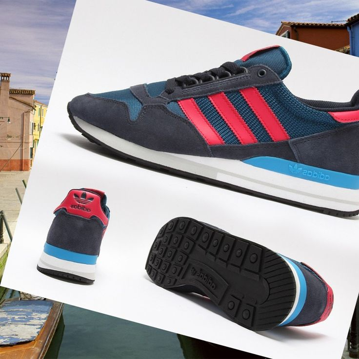 the latest e666f 7f143 HOT PRICE! Adidas Zx 500 Running Shoe Blue Man OG, Midnight Blue, Navy dark  red ...