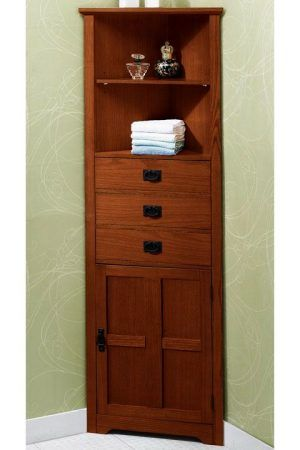 Corner Bathroom Cabinet Love The Corner Usage Need This In White
