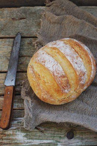 Хлеб без замеса на светлом пиве. А хлеб очень простой, даже без замеса, почему бы не испечь такой ...