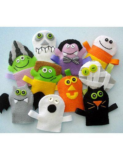 Sewing - Holiday & Seasonal Patterns - Halloween Patterns - Halloween Finger Puppets