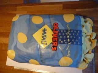 """""""Chips"""" kage til Olivers  konfirmation 6 maj 2012"""