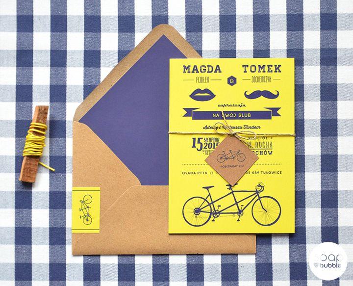Oryginalne Zaproszenia Ślubne - www.soapbubble.pl: ROWER